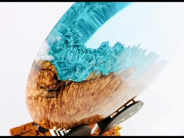 "45 Woodturning - A Hybrid Planet ""Divergence"""