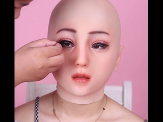 Emily mask makeup video male to female transformation