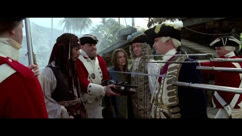 James Norrington meets Jack Sparrow Pirates of the Caribbean The Curse of the Black Pearl 2003