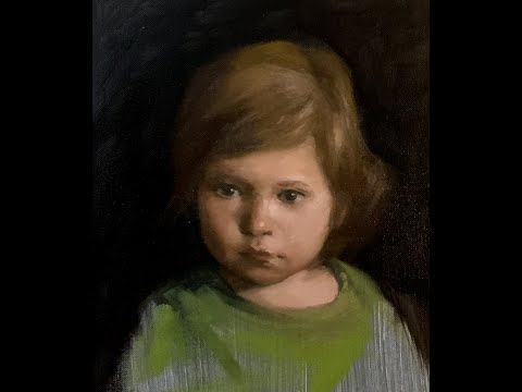 Portrait Painting Tutorial | Painting Portraits of Children | Extended Footage