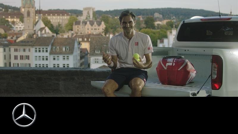 Mercedes-Benz X-Class: Roger Federer's Training Day