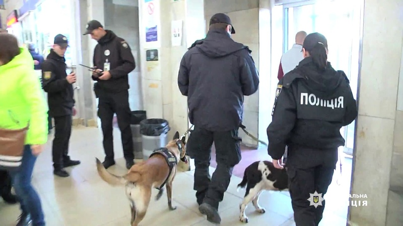 У міжнародному аеропорту Одеса розпочали роботу спільні наряди поліції та кінологів