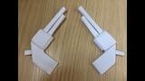 Как сделать пистолет оригами из бумаги без ножниц и клея