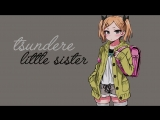 fallenshadow Tsundere Little Sister Roleplay Voice Acting ASMR..