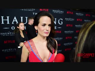 Elizabeth Reaser interviewed at #Netflixs The #Haunting of Hill House S1 Premiere Event