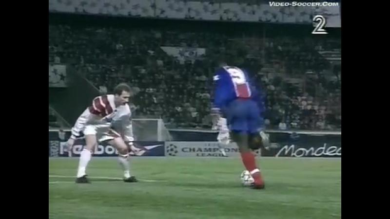 Лига Чемпионов 1994/95. ПСЖ (Франция) - Спартак Москва - 4:1 (2:0).