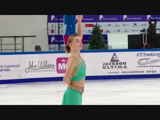 Елизавета ШИЛЕНКО - ПП - 3-й этап Кубка России Рoстелекoм 2018/2019, MС