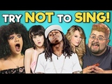 COLLEGE KIDS REACT TO TRY NOT TO SING ALONG CHALLENGE (10th Anniversaries)