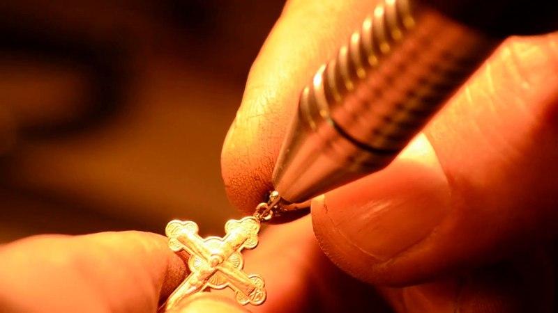 Ремонт крестика аппаратом контактной точечной сварки