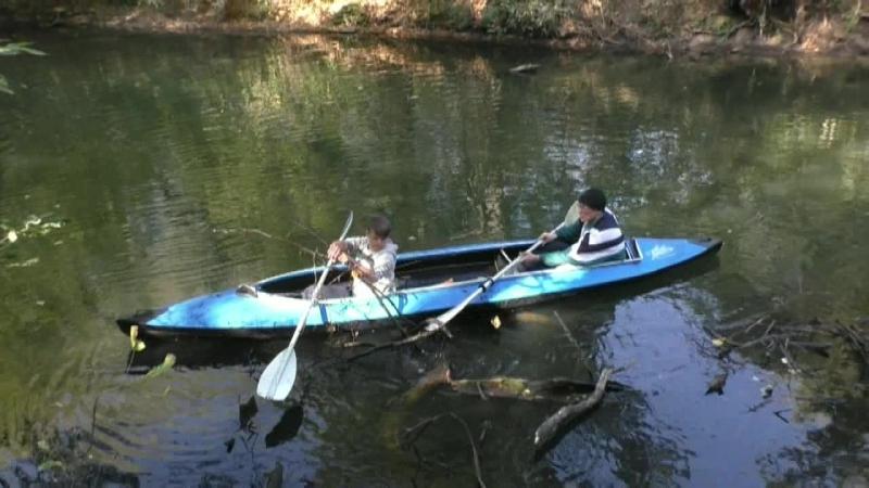 Очистка реки Крынка в зоне отдыха Буруны