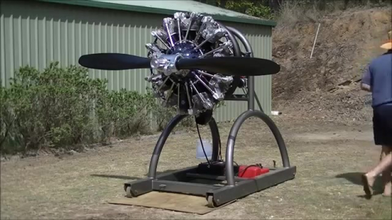 Pratt Whitney R985 Wasp Junior Engine start