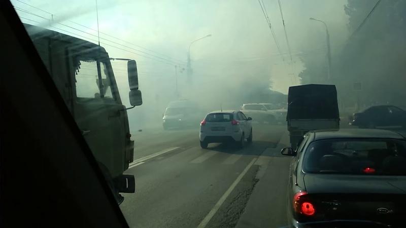 Пожар в Самаре, горит двухэтажка