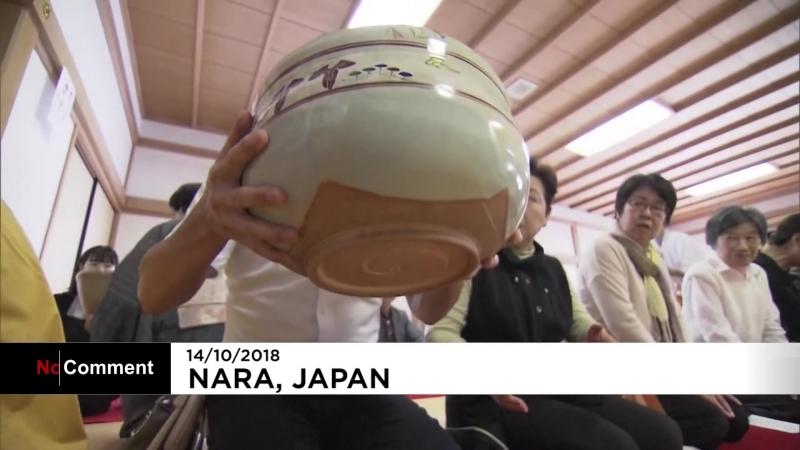 NC Японские буддисты напоили гостей чаем из огромных пиал