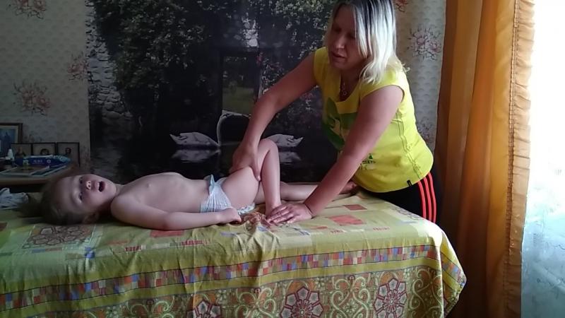 массаж ножек ребенка