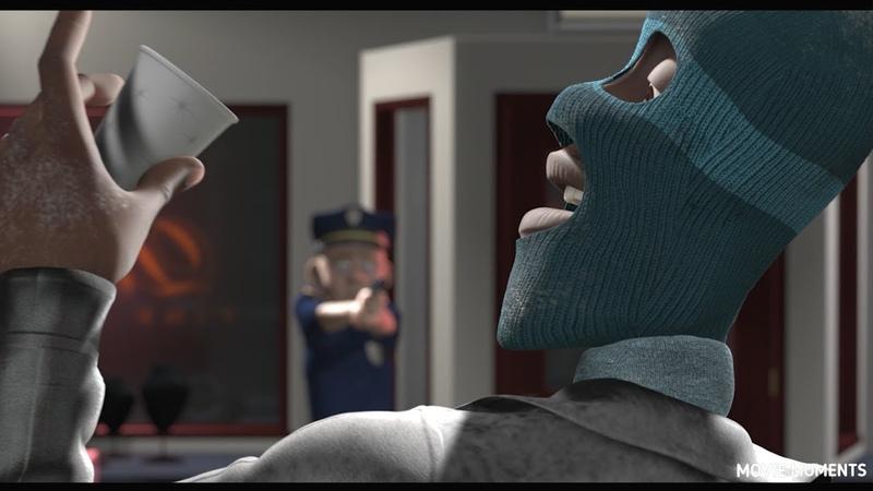 Мистер Исключительный и Фреон спасают людей из пожара. Суперсемейка (Incredibles)
