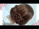 Peinados recogidos faciles para cabello largo bonitos y rapidos con trenzas para niña y fiestas7672