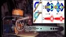 клапан теслы вместо глушителя . Tesla valve on a two-stroke engine.
