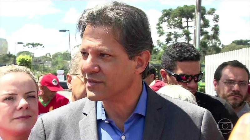 Noticias de Hoje - Haddad visita Lula na sede da PF e depois faz ato de campanha nas ruas...