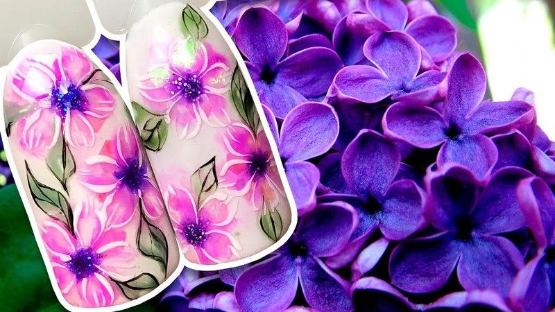 🌺 ЦВЕТОЧКИ С КРУПНЫМИ БЛЁСТКАМИ 🌺 ВЕСЕННИЙ ДИЗАЙН МАНИКЮР ЦВЕТЫ НА НОГТЯХ ГЕЛЬ ЛАКОМ LOVELY