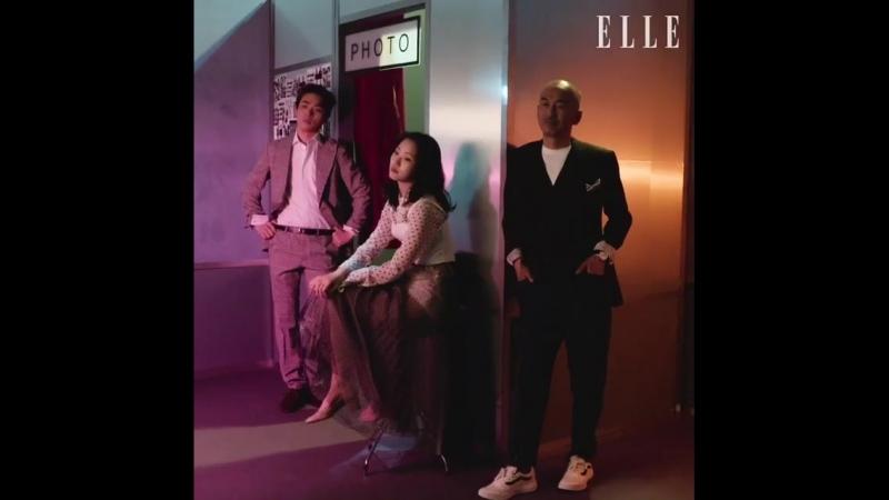 Ким Гоын, актёр Пак Чон Мин и режиссер Ли Джуник в июньском выпуске корейского издания «ELLE».