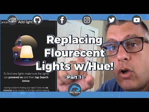 Replacing fluorescent with Hue 💡 Adding to Home Assistant 🏠 - Part 1