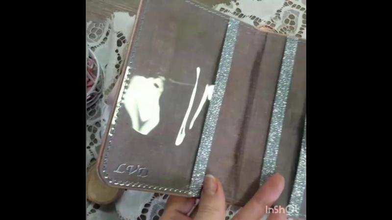 💖Обложка для паспорта 💖 Выполнена из натуральной кожи, нежно розового оттенка с добовлением серебряных элементов🌸  Выполнена на