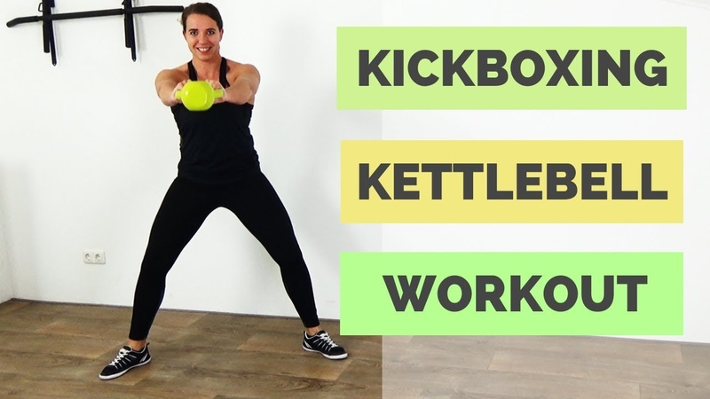 30 Minute Fat Burning Kickboxing and Kettlebell Combination Workout – Includes warm up and cool down