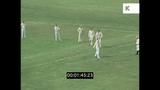 Aerials Over Village Green Cricket Match, 60s UK, HD
