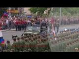 Оплот ТВ Парад на 9 мая в Украине (Донецк) Собака преследовала машину весь парад и лаяла войскам.mp4