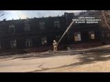 Пожар в доме на Комсомольская, 22. Северодвинск
