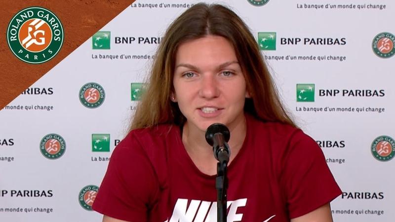 Simona Halep Press Conference after Semi Final I Roland Garros 2018