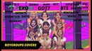 KPOP BOY GROUPS: DANCING AND SINGING TO TWICE SONGS - EXO BTS GOT7 ETC