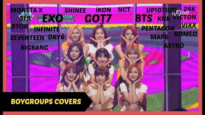 KPOP BOY GROUPS DANCING AND SINGING TO TWICE SONGS - EXO BTS GOT7 ETC