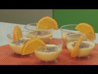 Готовим с Лилей Мамутовой- Апельсиновый пудинг