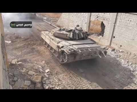 Бойові дії Сирія Дамаск Наступ піхоти та тяжолої техніки