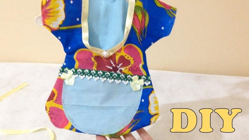Como Fazer Porta Prendedor de Roupas Tecido Sem Costura Artesanato DIY