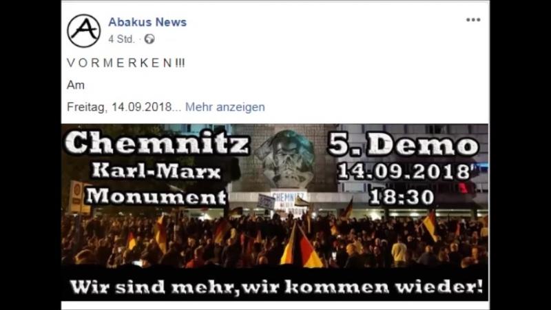 V O R M E R K E N Am Freitag den14.09.2018- 5. Demo Chemnitz.