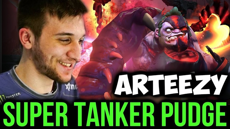 When Arteezy Carry with Pudge - Super Tanker Raid Boss