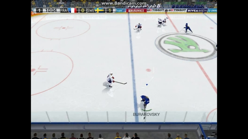 Швеция 1-0 Франция (1-период)