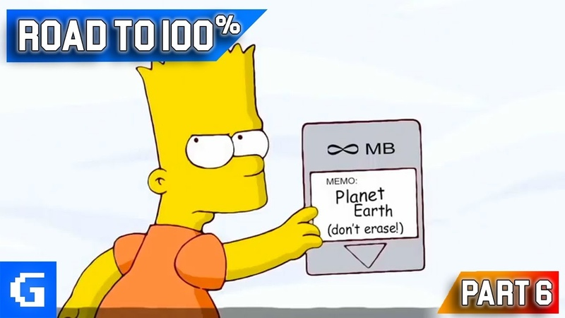 The Simpsons Game Road to 100% 06 100% Ending