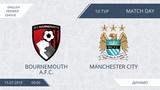 Bournemouth A.F.C. 410 Manchester City, 10 тур (Англия)