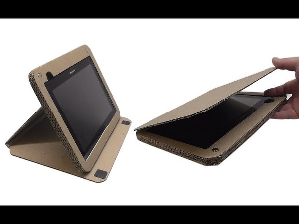 How to make case a tablet stand out of cardboard