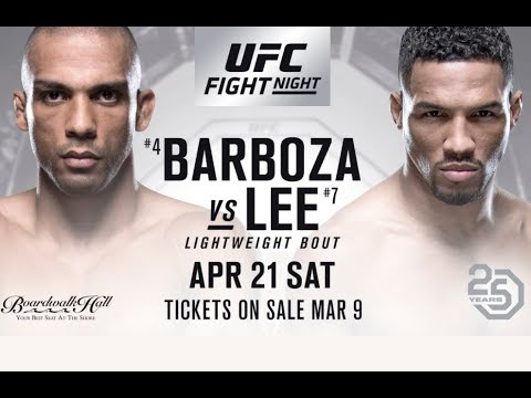 Edson Barboza vs Kevin Lee - PROMO FIGHT   HD  