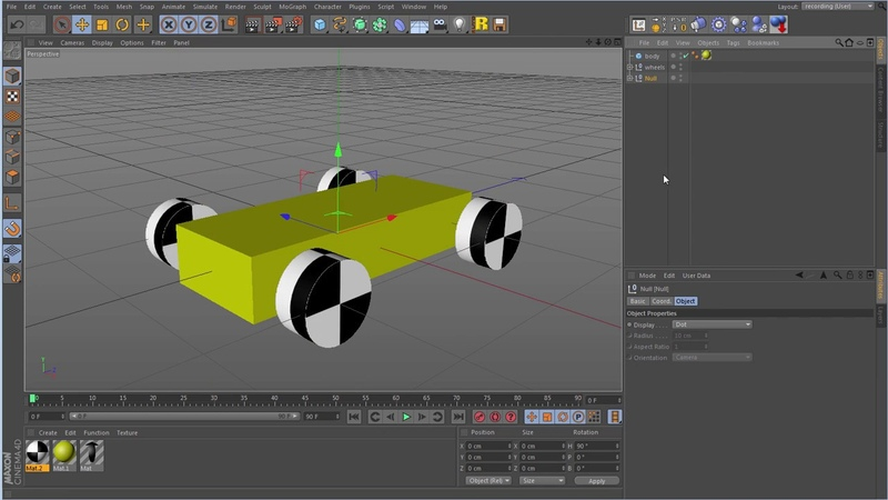 C4D XPresso car tutorial - part 1