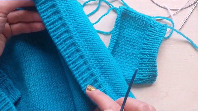 Вязание планки для кардигана кофты и пр ложная кеттлевка