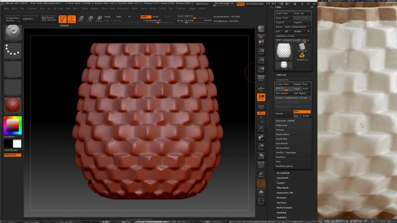 Создание декоративной вазы в ZBrush, развертка лоуполи в 3dcoat, материалы и трансфер карт в Substance Painter
