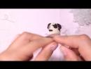 Собака крючком схема.Вяжем мопсика.the dog amigurumi
