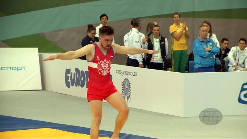 Чемпионат мира 2018 по прыжкам на батуте 33-й чемпионат SHLYAKIN Maxim (RUS) Petersburg (RUS) - Qualification Tumbling R1