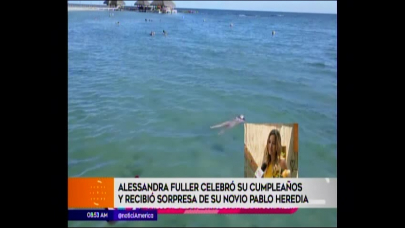 Alessandra Fuller celebro su cumpleaños y recibio sorpresa de su novio Pablo Heredia