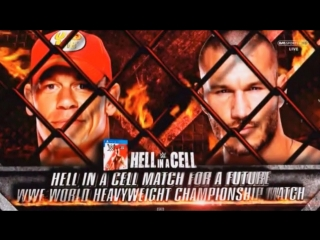 (WWE Mania) Hell in a Cell 2014 Randy Orton vs John Cena (Hell in a Cell Match)